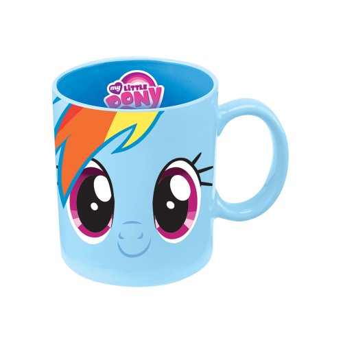 Pony Mug (Vandor 42162 My Little Pony Rainbow Dash 12 oz Ceramic  Mug, Blue)