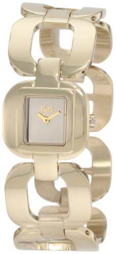 D&G Dolce & Gabbana Women's DW0712 Bbq Round Square Case Gold Dial Watch