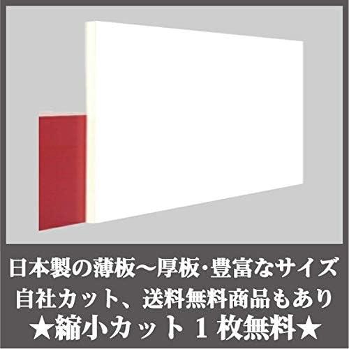 日本製 アクリル板 白両面マット 艶けし(押出板) 厚み2mm 300×450mm 縮小カット1枚無料 カンナ仕上(キャンセル返品不可)