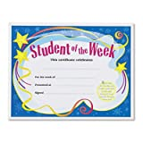 Student of the Week Certificates, 8-1/2 x 11, White Border, 30/Pack