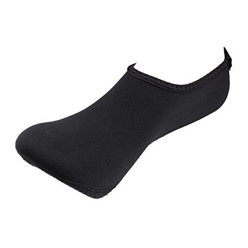 Chaussures De Peau De Leau Pieds Nus Unisexe Aqua Chaussettes Pour La Plage Nagent Surf Exercice De Yoga Noir
