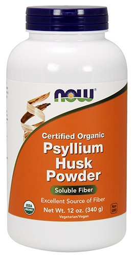 NOW Organic Psyllium Powder, 12-Ounce