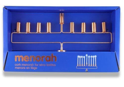 WINE BOTTLE CORK MENORAH