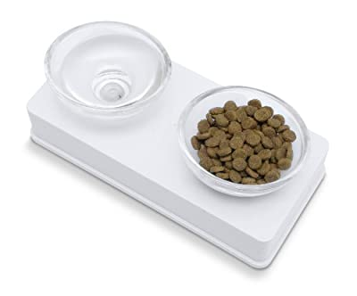 Catit Style2-Bowl Glass Diner Set for Pets
