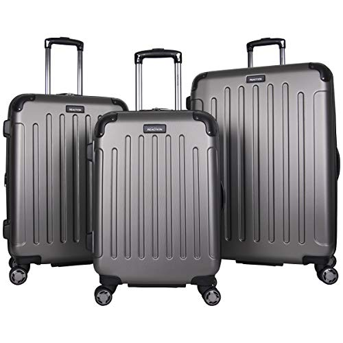 "Kenneth Cole Reaction Renegade 16"" Hardside Expandable 4-Wheel Spinner Mini Carry-on Luggage, Silver"