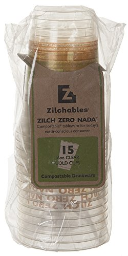 Zilchables Compostable Cold Cup, 16 oz., Clear (180-Count) by WNA