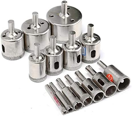 Stainless Steel High Speed Steel Metal Alloy Hole Diamond Coated Hole Saw Cutter Drill Bit Rotary Tool 6-50mm 15pcs