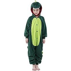 Sunrise Childrens pijamas Dormir Wear Anime Cosplay Onesie Homewear, Dinosaur, 105#