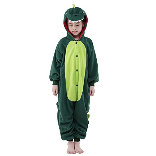 NEWCOSPLAY Unisex Children Dinosaur Pyjamas Halloween Costume (8-Height 53-55