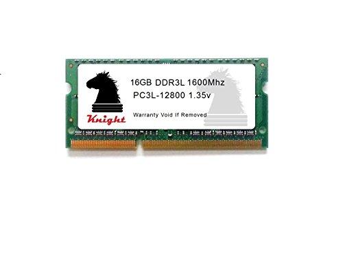 Knight 16GB DDR3L 1600 MHz PC3 12800 (1X16GB) 1.35v SODIMM Memory for Intel 5TH 6TH Generation i3 i5 i7