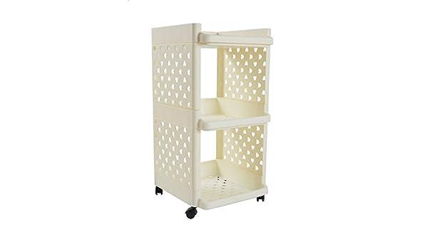 zyt Tres Capas de cambio unidad rack – Estantería para baño en la cocina suelo hasta el techo estantes estante: Amazon.es: Hogar