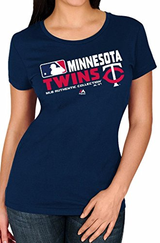 Mlb Womens Authentic Collection Team Choice T Shirt  Small  Minnesota Twins