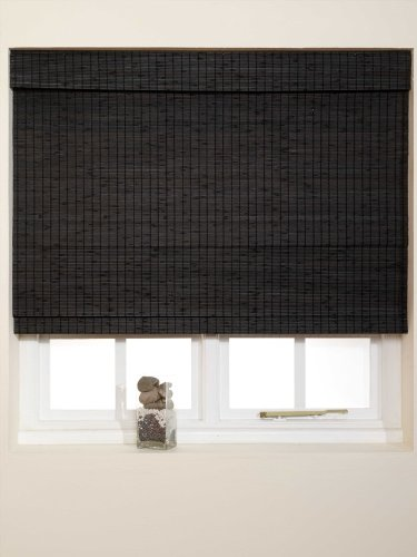 black wooden blinds. classic wooden 180cm x 160cm roman blind in black - new blinds n