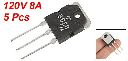 DealMux a11092900ux0457 Complementar PNP Transistor de potência 2SB688, 5 peça: Amazon.com: Industrial & Scientific