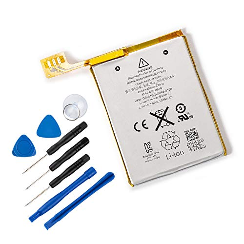 TANAKA Replacement Battery Compatible iPod Touch 5 5th Generation gen with Installation Tools 1030mAh 3.7V 3.8Wh 616-0619
