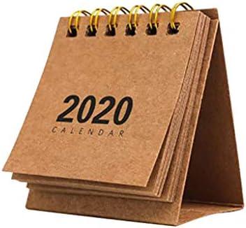 Deng Xuna 2020 Mini Tischkalender, Stand Up Flip Kalender Neujahr Täglich Monatlich Coil Kalender Tisch Planer Agenda Organizer für Home School Office