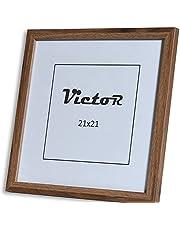 VictoR Fotolijst Klee 21x21cm in bruin, moderne eenvoudige houten lijst - (21 x 21 cm, bruin)