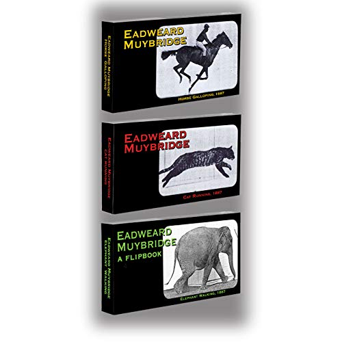 Fliptomania Muybridge Flipbook 3 Pack: Horse, Cat, Elephant, White