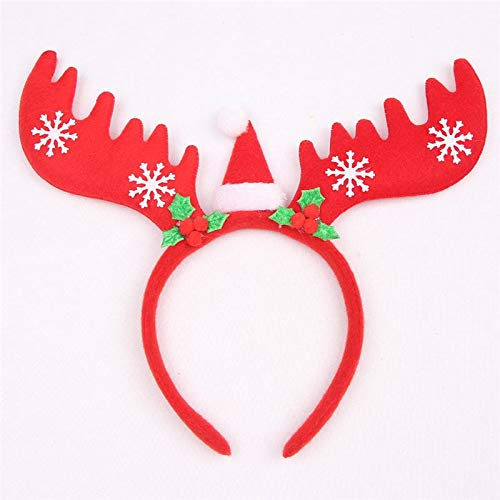 1 PC Large Reindeer Antler Hair Hoop Kids Toy Headband Headwear Children Christmas Costume Party Decorations For Home New Year
