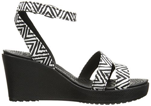Crocs Womens Leigh Graphic Wedge Black/Black 8nwmFe