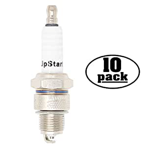 10-Pack Compatible Spark Plug for 1970 YAMAHA Snowmobile SL396 396cc - Compatible Champion RL82C & NGK BR7HS Spark Plugs