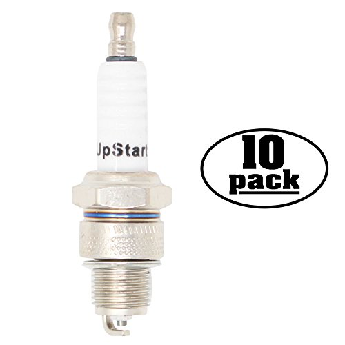 UpStart Components 10-Pack Compatible Spark Plug for Royal Enfield Motorcycle Meteor Twin 700cc - Compatible Champion RL82C & NGK BR7HS Spark Plugs