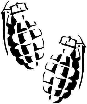 Leon Online Box Grenade Arma, Espejo – calcomanía de Vinilo Tribal ...