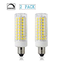 E11 75W, All-New Dimmable LED E11 Candelabra Base Bulbs, 75W 100W Equivalent, 120V 7W JD T4 Bulb, 102X2835SMD 360 degree Indoor lighting (Pack of 2) (White)