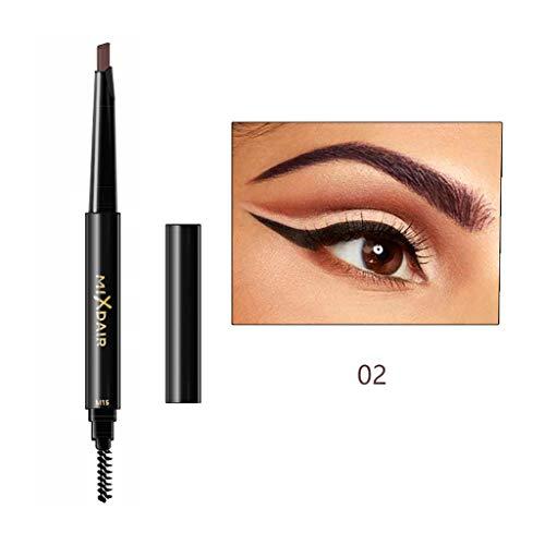 Orcbee  MIXDAIR Stereo Double-Head Eyebrow Pencil Anti-Sweat and Non-Dizziness Eyebrow (B)