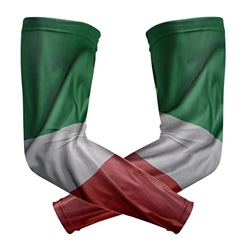 super3Dprinted Italy Flag Sports Sleevelet Oversleeves Riding Protection Arm Sleeves by super3Dprinted