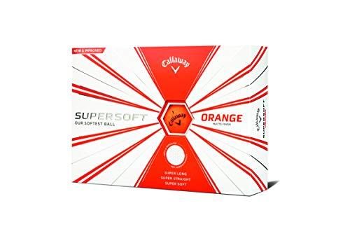 Callaway Golf Supersoft Golf Balls, (One Dozen), Orange, Matte Finish