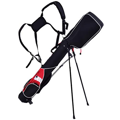 GYMAX Golf Bag, Golf Stand Bag Lightweight Cart Bag with 7 Dividers 5