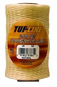 TUF-Line Nylon Rigging Hilo Dental con 30-pound prueba, 2560-Yard, 1-Pound Bobina, acabado natural