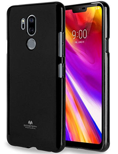 LG G7 ThinQ Case with Screen protector [Slim Fit] Mercury Marlang Pearl Jelly [Flexible] Rubber TPU Case [Lightweight] Protective Bumper Cover for LG G7 ThinQ (Black) LGG7-JEL/SP-BLK