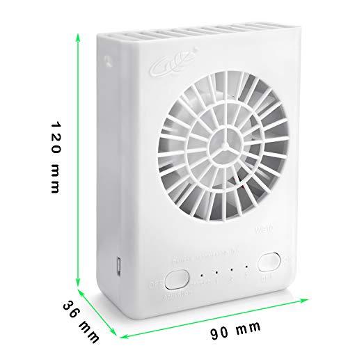 Powshop Portable Necklace Multi-functional Rechargeable Mini Fan 3 Speeds Person