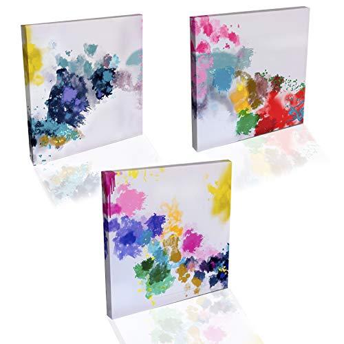 Cuadro en Lienzo Impresion Artistica 3 Piezas 30x30 cm Decoracion de la Pared Facil Colgar Dormitorio Salon Sala de Estar Wall Art… (30x30)