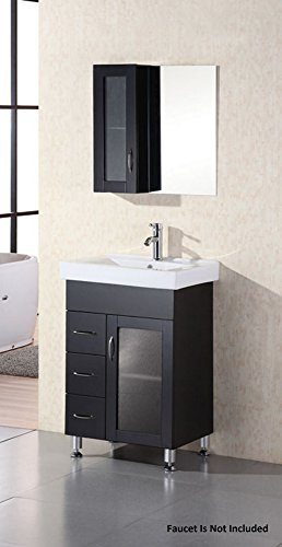 Stanton Espresso Vanity Set w/ Single Sink 24'' by Design Element by Design Element