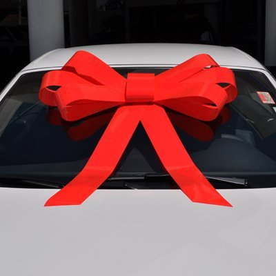Giant Car Windshield Bow 34 X 30 Red Health