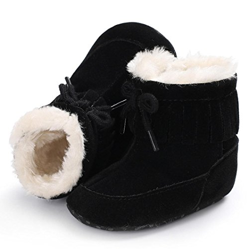 Clode® Baby Soft Sole Snow Stiefel Soft Crib Schuhe Kleinkind Stiefel Schwarz