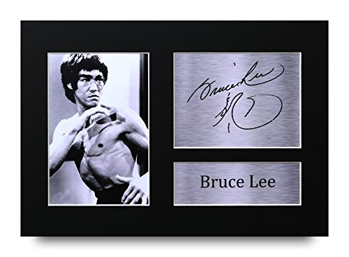 HWC Trading Bruce Lee Gift Signed A4 Printed Autograph Martial Arts Enter  The Dragon Gifts Print Photo Picture Display