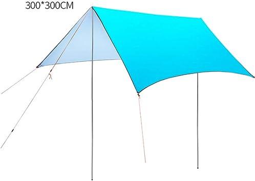 XGYUII Hamaca Lluvia Carpa Exterior Lona Impermeable Protección UV Toldos Toldo de Gran tamaño Pérgola al Aire Libre Ultraligero Protección Solar Carpa Impermeable,Skyblue,300 * 300cm: Amazon.es: Deportes y aire libre