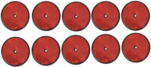 APT 10 x Reflektoren Rund Rot Ø85 mm Anhänger Rückstrahler E3