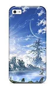 linJUN FENGSpecial Design Back Original Animal Bird Clouds Landscape Moon Original Planet Scenic Shirakaba Toshiharu Signed Sky Tree Phone Case Cover For ipod touch 5