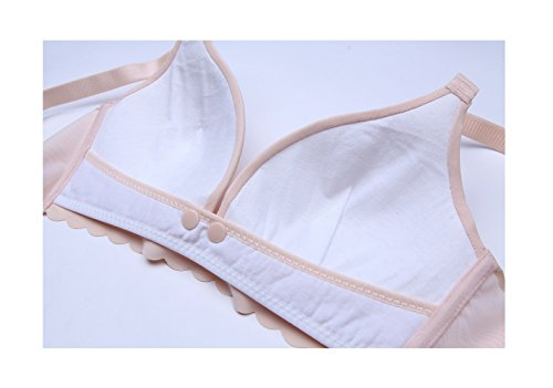 Without Steel Front Buckle Bra Nude Qirui Gathered Open Ring Bra Nursing q1pn7
