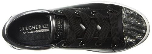 Cap Pink Lite Rhinestone Women's Skechers Sneaker Toe Black White Hi RpacxXwq