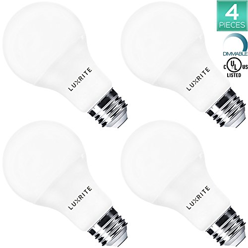 Pack of 4 Luxrite LED Light Bulb 100W Equivalent, 14W A21...