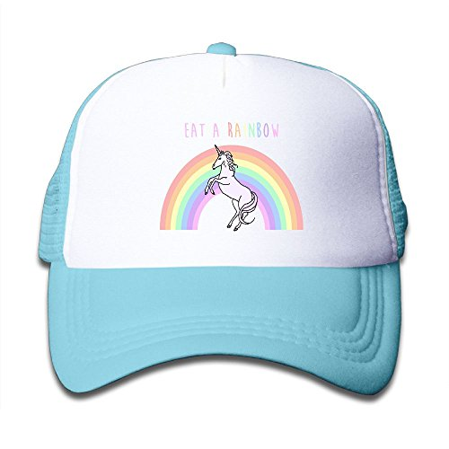 Elephant AN Unicorns Rainbows Mesh Baseball Cap Kid Boys Girls Adjustable Golf Trucker Hat