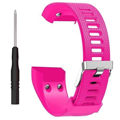 ZSZCXD Band for Garmin vivosmart HR+, Silicone Strap Replacement Wristband for Garmin vivosmart HR+ (No Tracker) (Rose)
