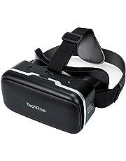 TechRise 3D VR Headset, 3D VR Bril Virtual Reality Box met verstelbare lens en comfortabele riem voor 3D-films en games, compatibel met iPhone Samsung en andere 3.5''-6'' smartphones