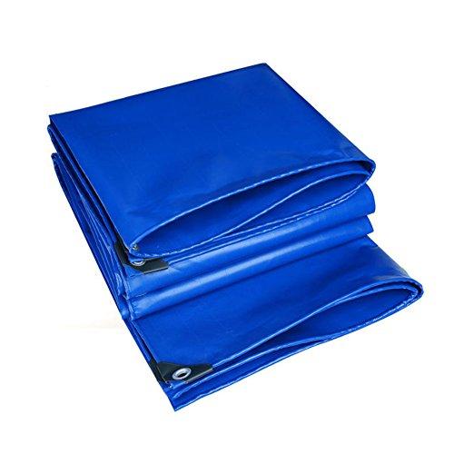 COZY HOME AAA Dickes Wasserdichtes Tuch, Blau-Plane Doppelseitig Wasserdichter Anti-Korrosions-reißfeste Auto Schatten Regen Planen im Freien Tisch und Stühle Abdeckung